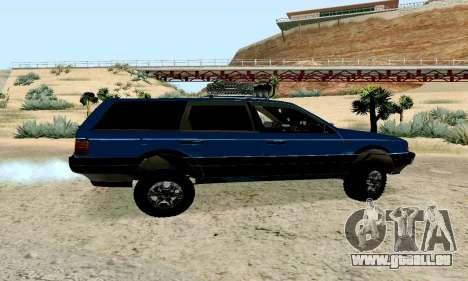 Volkswagen B3 für GTA San Andreas zurück linke Ansicht