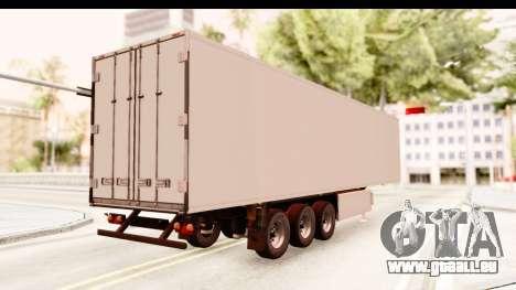 Trailer ETS2 v2 New Skin 2 für GTA San Andreas zurück linke Ansicht