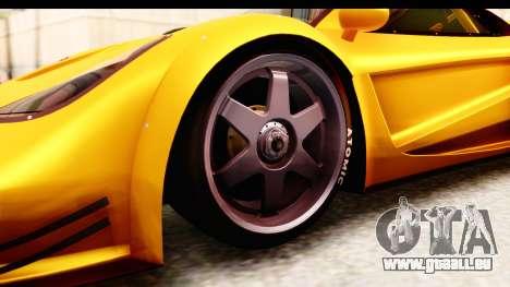 GTA 5 Progen Tyrus SA Style pour GTA San Andreas vue intérieure
