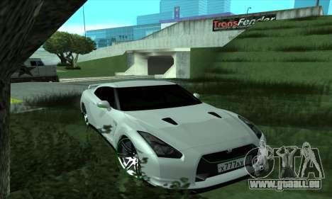 Nissan GT-R R35 Green Screen pour GTA San Andreas
