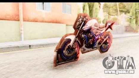 Yamaha MT-25 (MT-03) pour GTA San Andreas vue de droite