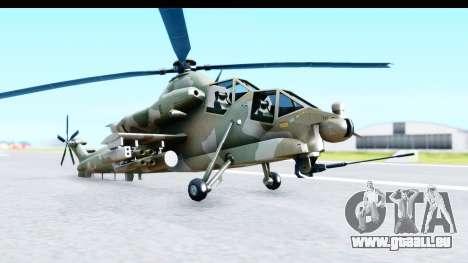 Denel AH-2 Rooivalk für GTA San Andreas rechten Ansicht