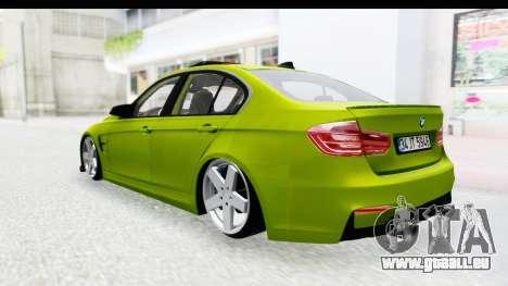BMW M3 F30 Hulk für GTA San Andreas rechten Ansicht