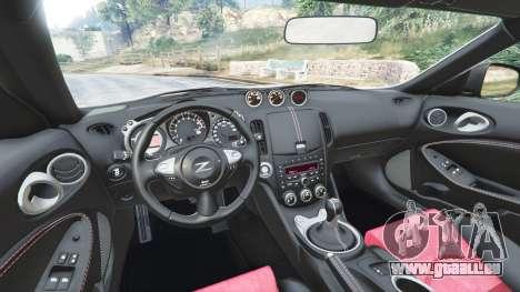 GTA 5 Nissan 370Z Nismo Z34 2016 [replace] avant droite vue de côté