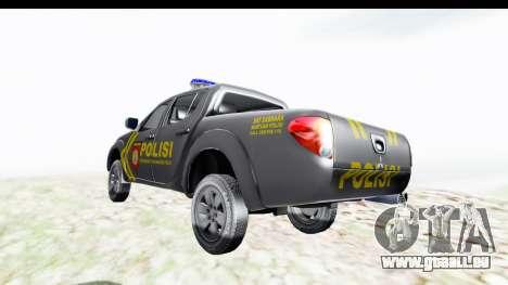 Mitsubishi L200 Indonesian Police pour GTA San Andreas sur la vue arrière gauche