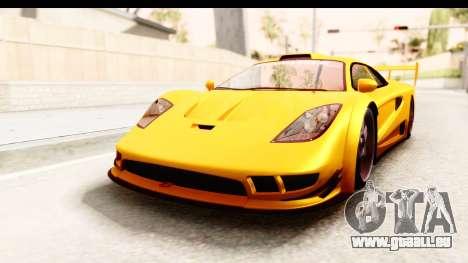 GTA 5 Progen Tyrus SA Style pour GTA San Andreas vue arrière