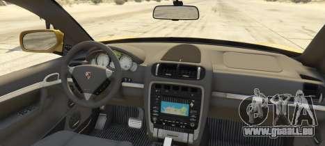 GTA 5 Porsche Cayenne Turbo 2010 arrière vue latérale gauche