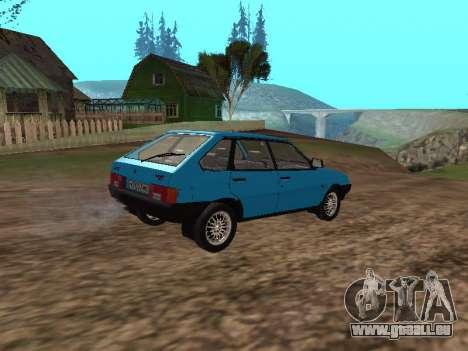 VAZ 2109 mit Alufelgen für GTA San Andreas zurück linke Ansicht