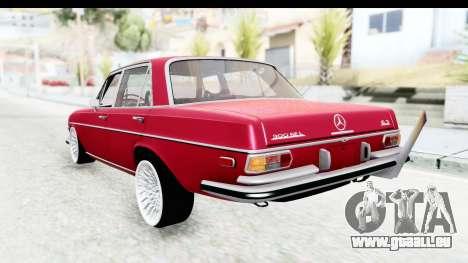 Mercedes-Benz 300SEL pour GTA San Andreas laissé vue
