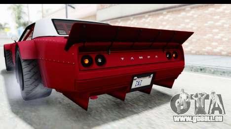 GTA 5 Declasse Drift Tampa IVF pour GTA San Andreas vue de dessus