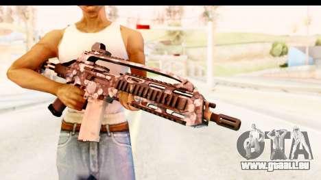 SCAR-LK Hex Camo Blue für GTA San Andreas dritten Screenshot