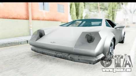 VCS Infernus pour GTA San Andreas sur la vue arrière gauche