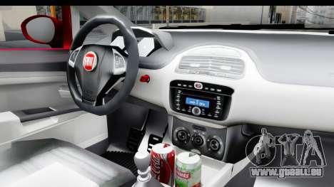 Fiat Linea 2015 v2 pour GTA San Andreas vue intérieure
