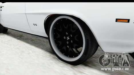 Chevrolet Camaro SS 1968 White Edition für GTA San Andreas Rückansicht