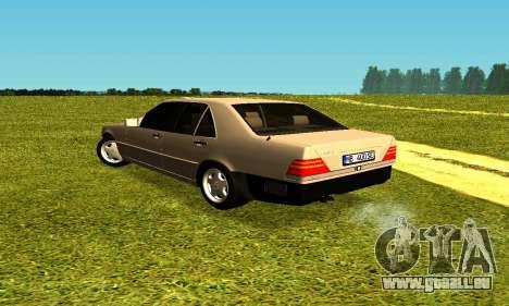 Mercedes Benz W140 pour GTA San Andreas sur la vue arrière gauche