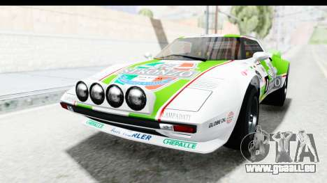 GTA 5 Lampadati Tropos SA Lights pour GTA San Andreas vue de dessous
