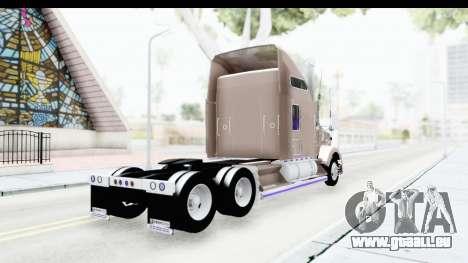 Kenworth T800 Centenario Studio Sleeper Toys pour GTA San Andreas laissé vue