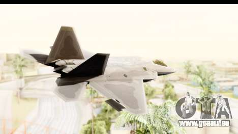 Lockheed Martin F-22 Raptor pour GTA San Andreas vue de droite