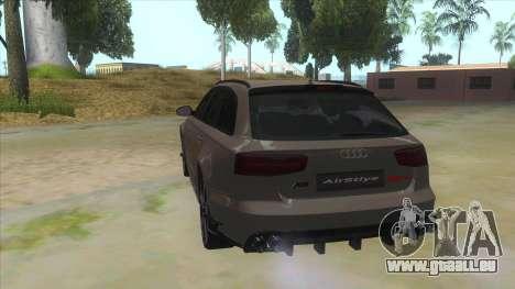 Audi RS6-R pour GTA San Andreas sur la vue arrière gauche