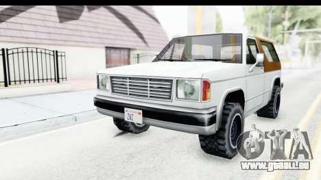 Ford Bronco from Bully pour GTA San Andreas sur la vue arrière gauche