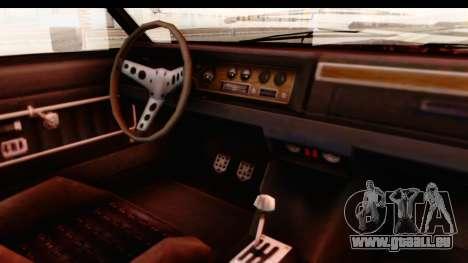 GTA 5 Albany Emperor IVF pour GTA San Andreas vue intérieure