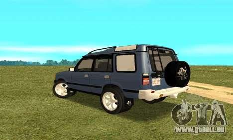 Land Rover Discovery 2B pour GTA San Andreas sur la vue arrière gauche