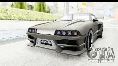 Elegy Sport Type v1 pour GTA San Andreas sur la vue arrière gauche