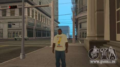 Bart Simpson T-Shirt pour GTA San Andreas troisième écran