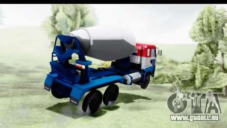 Nissan Diesel UD Big Thumb Cement Babena pour GTA San Andreas laissé vue