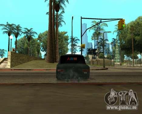 VAZ 2101 Armenian pour GTA San Andreas vue arrière