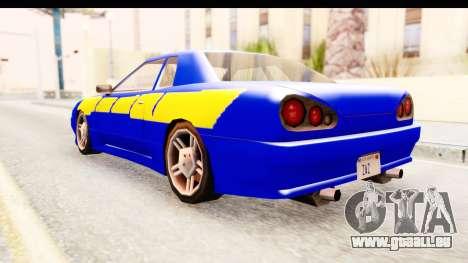 NFSU2 Tutorial Skyline Paintjob for Elegy pour GTA San Andreas laissé vue