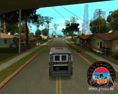 Der Tacho im Stil der Armenischen Flagge V 2.0 für GTA San Andreas dritten Screenshot