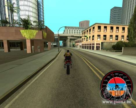 Der Tacho im Stil der Armenischen Flagge V 2.0 für GTA San Andreas her Screenshot