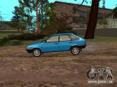 VAZ 2109 avec des roues en alliage pour GTA San Andreas laissé vue