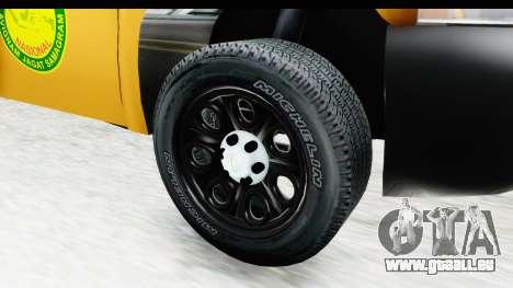 Chevrolet Silvedaro Basarnas für GTA San Andreas Rückansicht