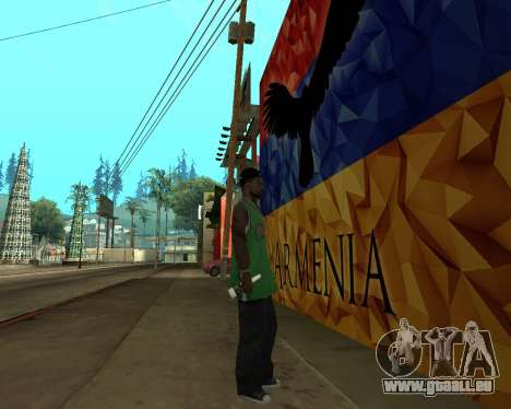 Grove Street Armenian Flag für GTA San Andreas dritten Screenshot