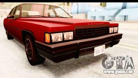 GTA 5 Albany Emperor IVF für GTA San Andreas Seitenansicht