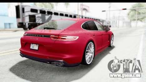 Porsche Panamera 4S 2017 v2 pour GTA San Andreas vue de droite