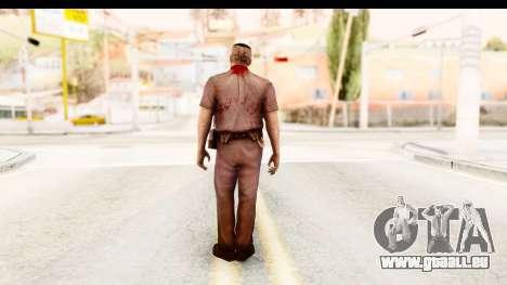 Left 4 Dead 2 - Zombie Policeman pour GTA San Andreas troisième écran