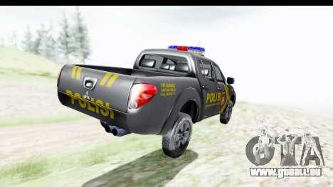 Mitsubishi L200 Indonesian Police pour GTA San Andreas laissé vue