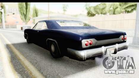 Blade Hardtop pour GTA San Andreas sur la vue arrière gauche