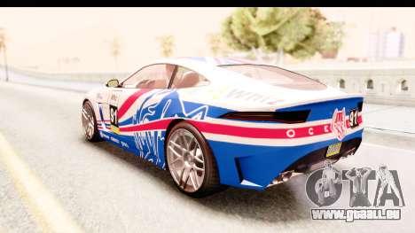 GTA 5 Ocelot Lynx IVF für GTA San Andreas Unteransicht