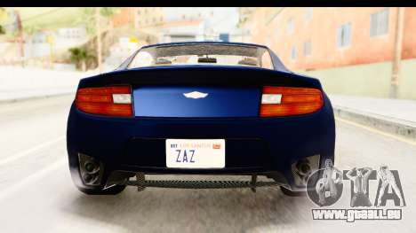 GTA 5 Dewbauchee Rapid GT pour GTA San Andreas vue de dessus