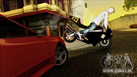 Elegy Drophead für GTA San Andreas Innenansicht