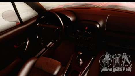 Mazda Miata with Crazy Camber pour GTA San Andreas vue intérieure
