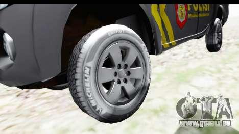 Mitsubishi L200 Indonesian Police pour GTA San Andreas vue arrière