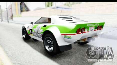 GTA 5 Lampadati Tropos SA Lights pour GTA San Andreas salon