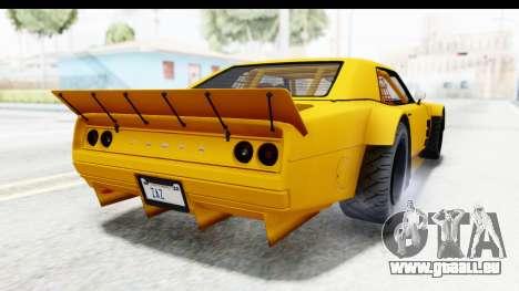 GTA 5 Declasse Drift Tampa pour GTA San Andreas vue de droite