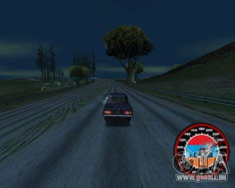 Der Tacho im Stil der Armenischen Flagge V 2.0 für GTA San Andreas zweiten Screenshot