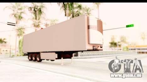 Trailer ETS2 v2 New Skin 2 pour GTA San Andreas vue de droite